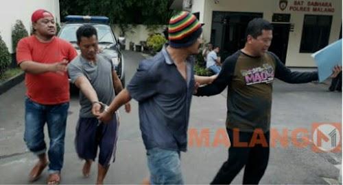 Tebang Pohon Pinggir Jalan, Dua Pria Ditangkap Polisi