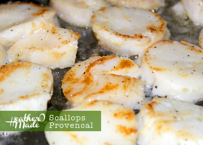 scallops provencal. heatheromade. recipe.
