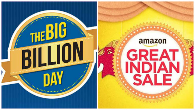 Flipkart Big Billion Sale & Amazon Great Indian Festival Sale 2016 2 Oct – 6 Oct Offers, Discounts Coupons