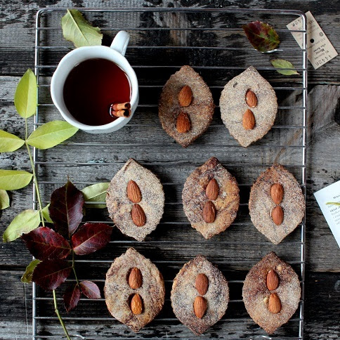 Bezglutenowe marmurkowe ciasteczka z migdałami