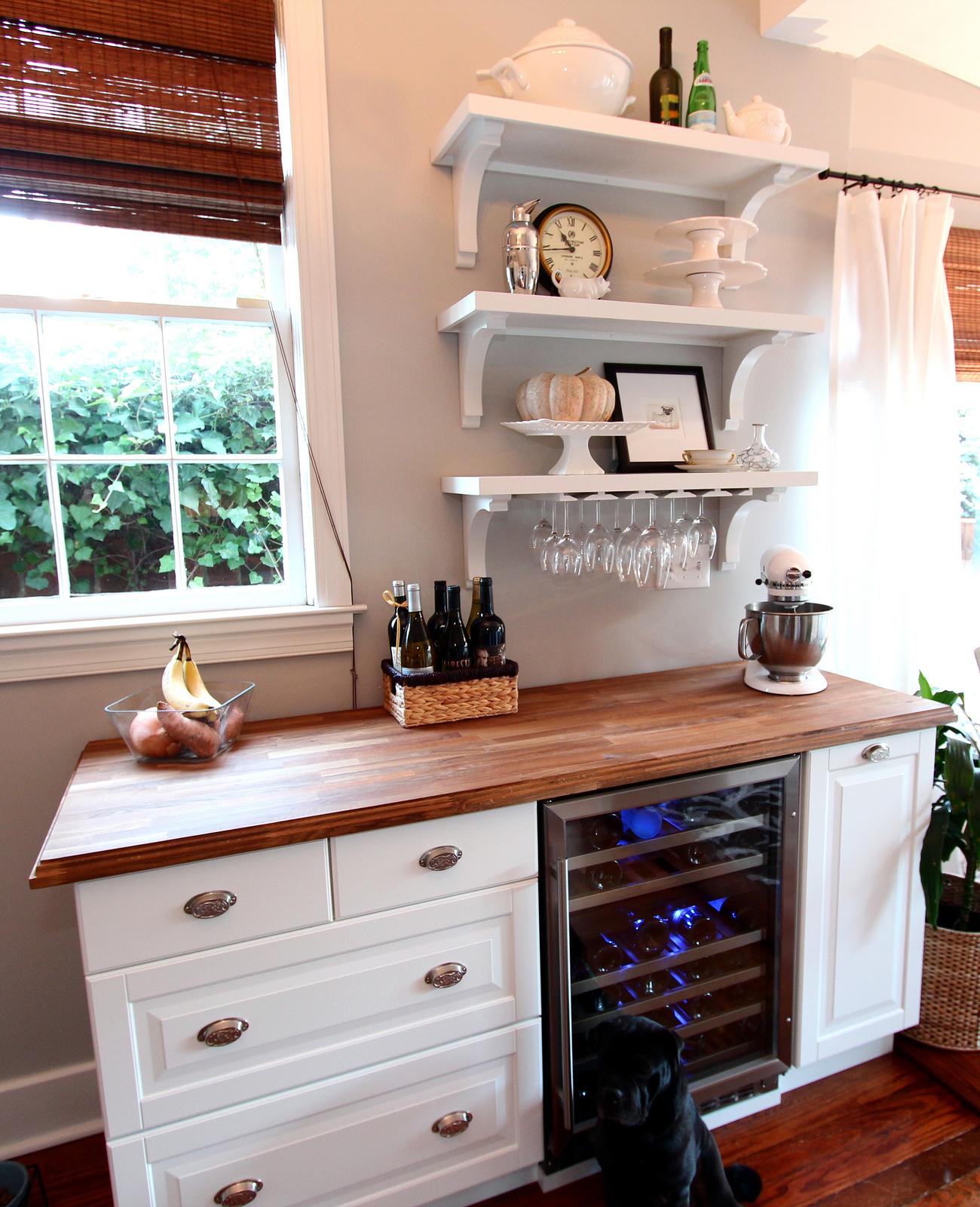 Wine Bar Ideas Home Decorating: NUMERAR + AKURUM + DIY = Chic Wine Bar
