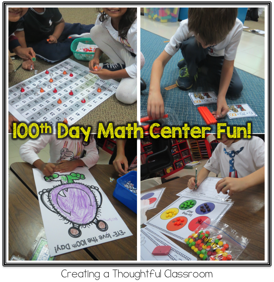 100th Day Math Centers, Creating a Thoughtful Classroom