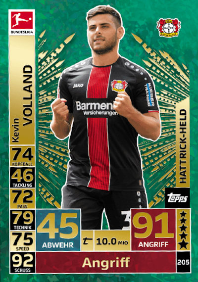 Willi Orban TOPPS Bundesliga 2018//2019 Sticker 145