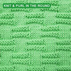 Blocks - Pattern 1 - knitting in the round