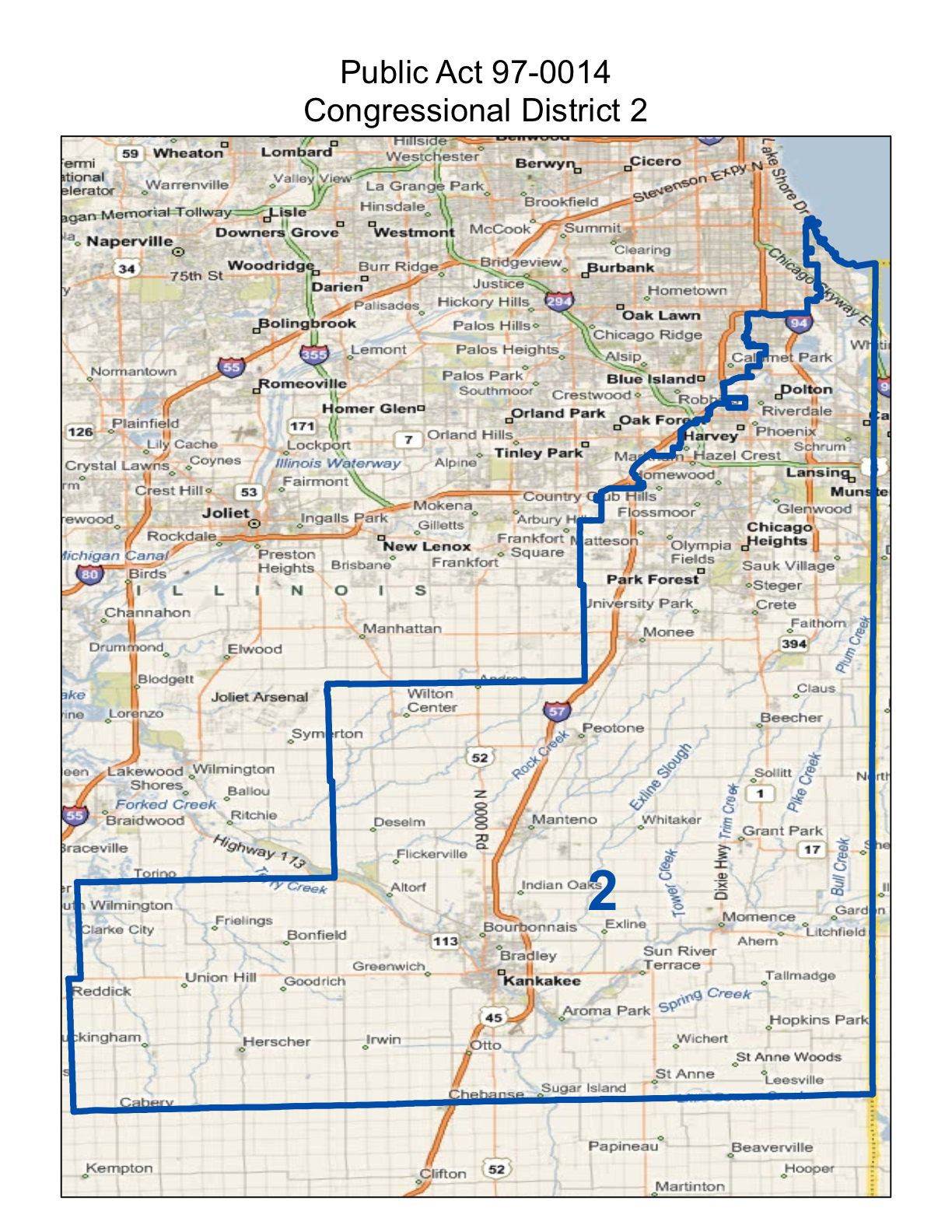 illinois second congressional district map