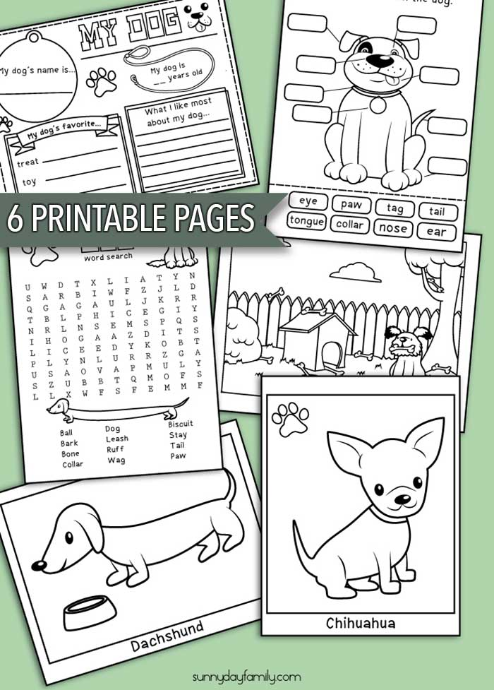 pack of dogs coloring pages - photo#22