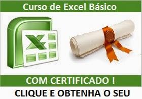 Obtenha seu certificado do Curso de Excel Básico para iniciantes