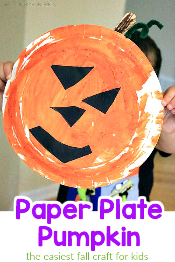 Easy Peasy Paper Plate Pumpkin Craft Your Kids Will Love School