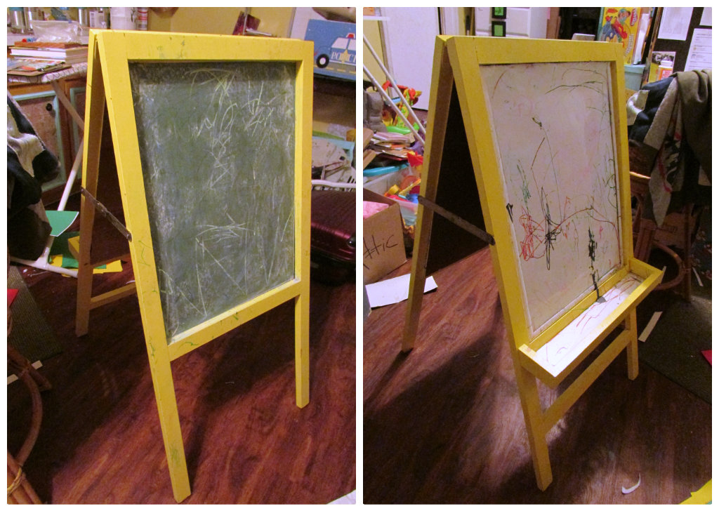 Kids Chalkboard Easel Makeover Easy Diy Just A Little