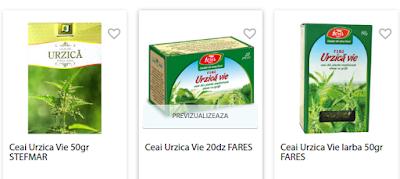 Cumpara online ceai Urzica Vie