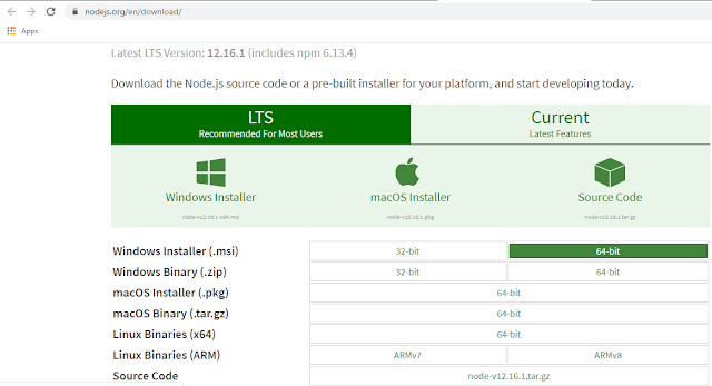 Node.js download