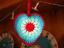 Simple Sunburst Crochet Heart