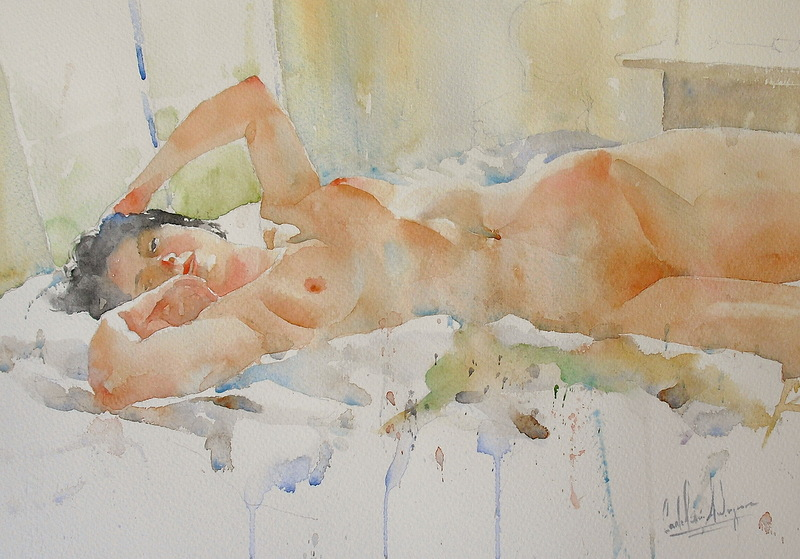 Nsfw Gorgeous Watercolor Nudes Exude Feminine Eroticism