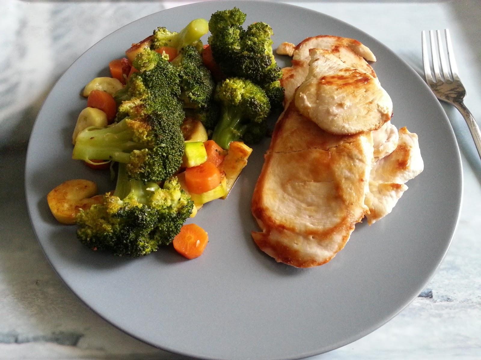 pollo con verduras al vapor receta