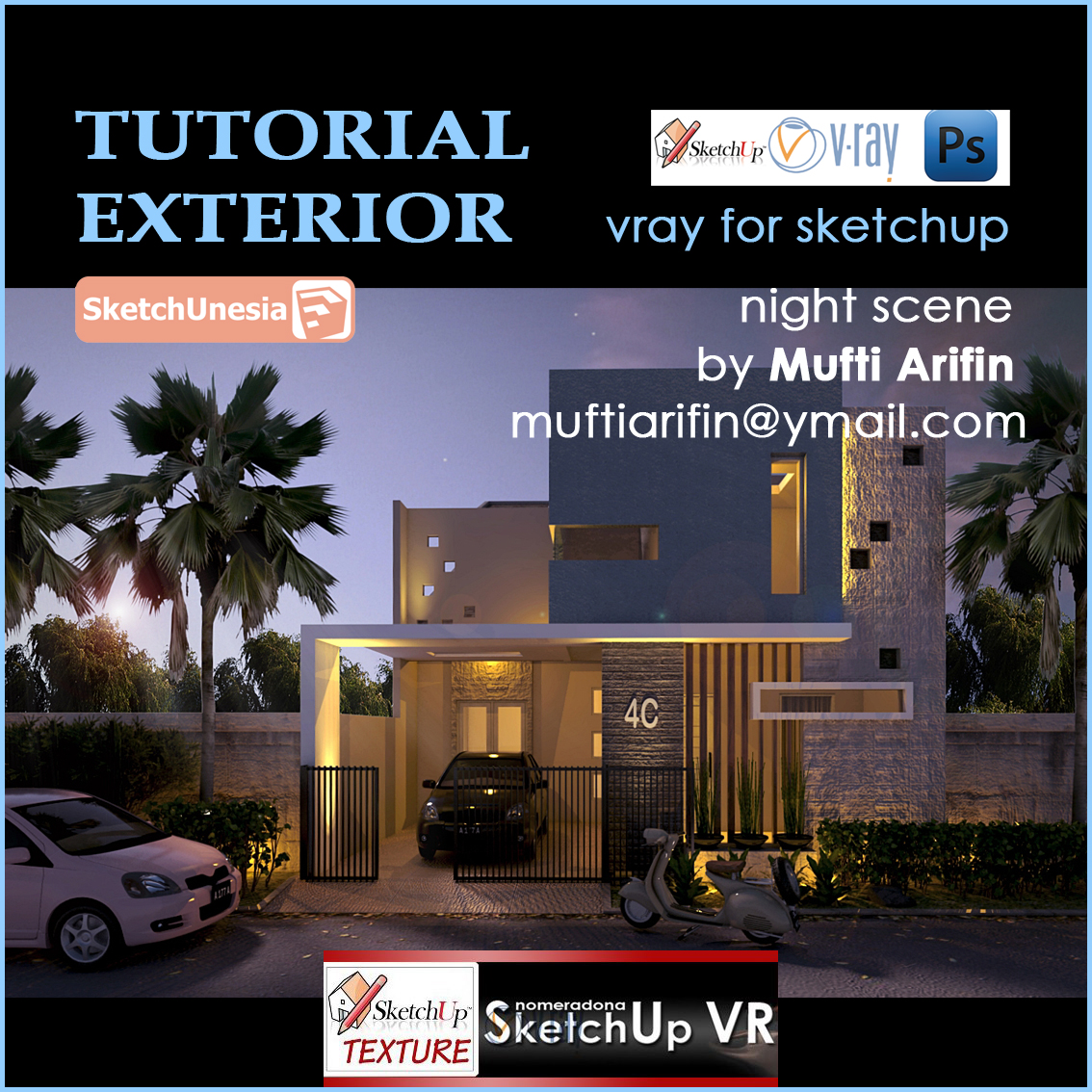 sketchup texture vray tutorial exterior rh sketchuptexture com Google SketchUp House Google SketchUp House