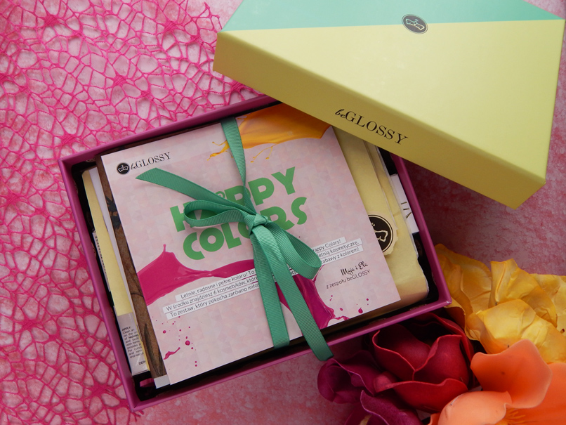 BeGlossy Happy Colors - lipiec 2017 - pudełko na szare dni