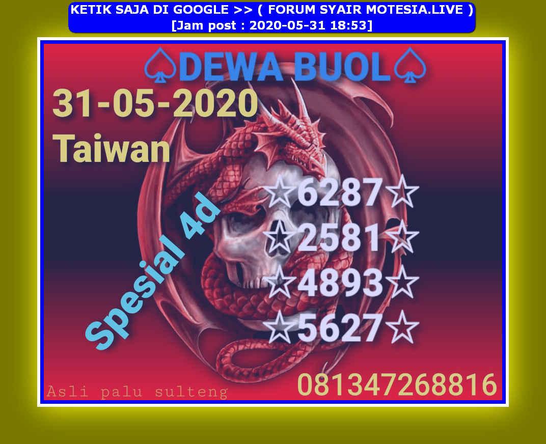 Kode syair Hongkong Minggu 31 Mei 2020 27