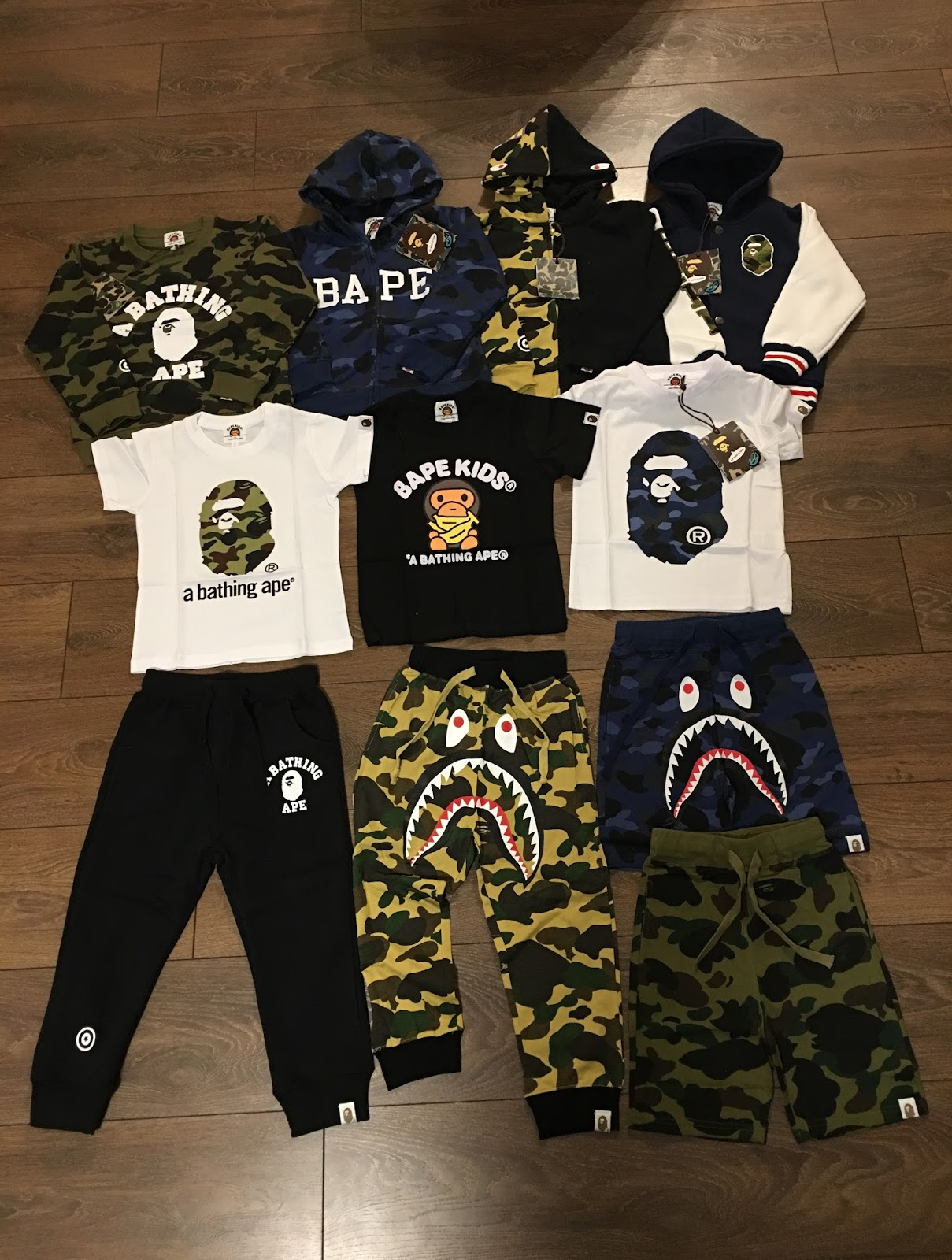 bape kids clothing haul xcd9710