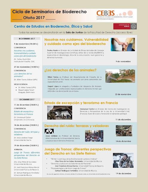 Ciclo de Seminarios de Bioderecho (Otoño 2017)