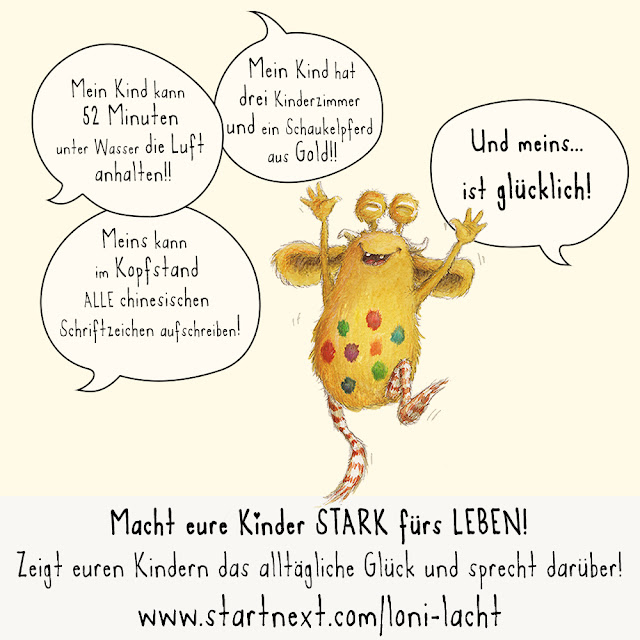 Resilienz, Kinderbuch, Glück, Loni lacht!, Pumpf, Kinderbuchillustration