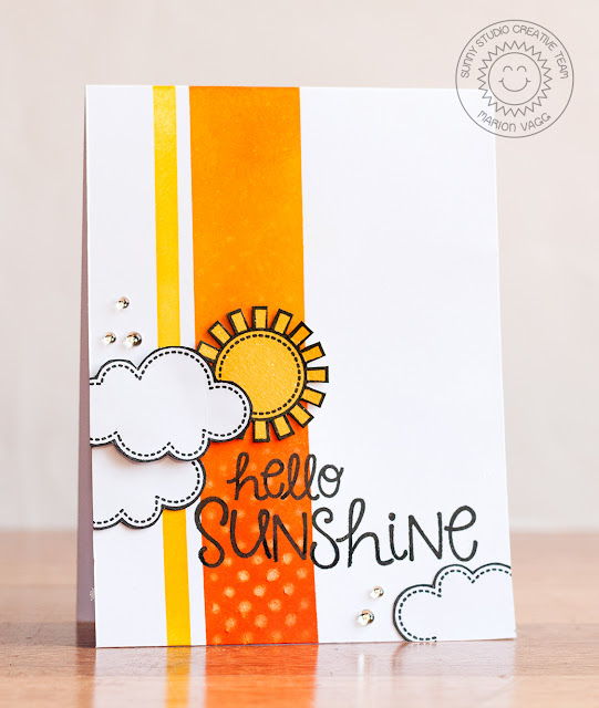 Sunny Studio Stamps: Sunny Sentiments Hello Sunshine card by Marion Vagg