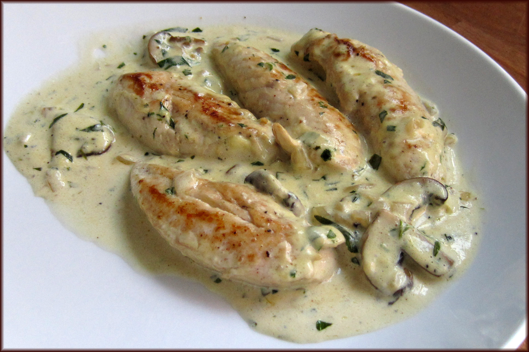 Chicken with Tarragon and Marsala Mushroom Sauce