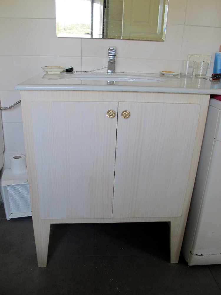 Supermanitas dise o de y construcci n de mueble de lavabo - Lavabos pequenos con mueble ...