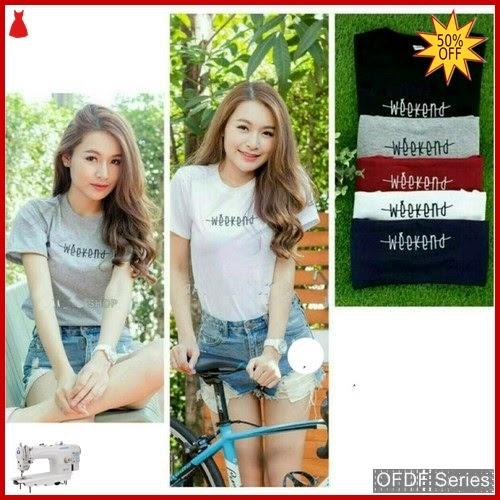 OFDF081 Atasan Kaos Tshirt Weekend Tee 276 BMGShop