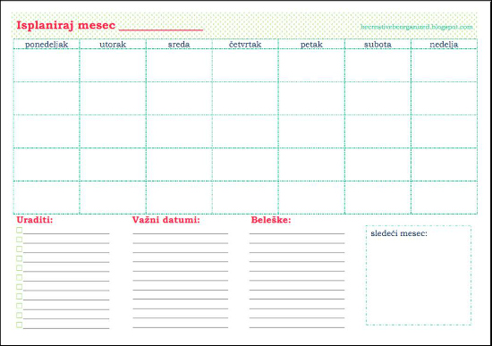 Isplaniraj mesec