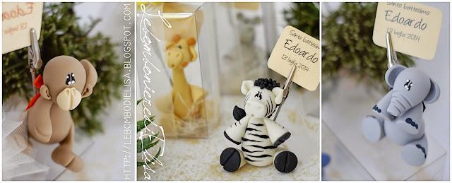 bomboniere battesimo zebra