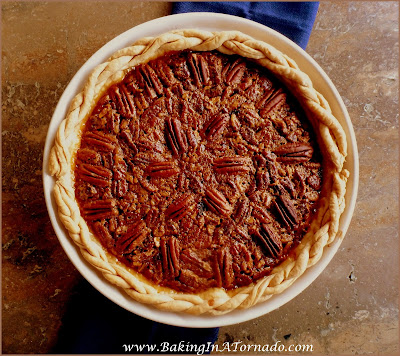 Spiced Pie With Pecans, a Pecan Pie with some new flavors and kicked up a notch | Recipe developed by www.BakingInATornado.com | #recipe #dessert