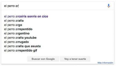 pantallazo de autocompletar de Google