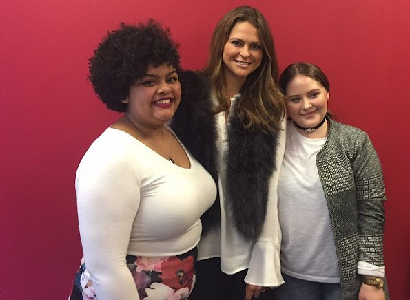 Swedish Princess Madeleine visited the Mount Sinai Adolescent Health Center in New York, together with Childhood USA