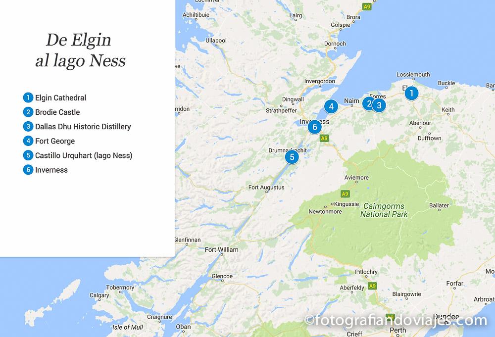recorrido por Escocia en coche