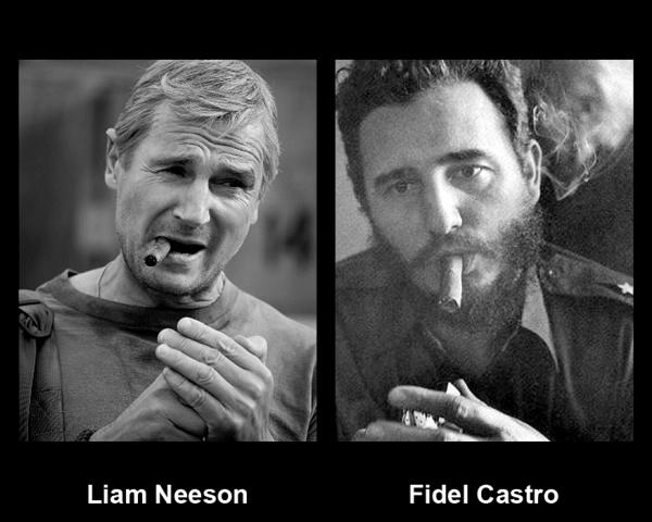 Double-Take etc.: Fidel Castro and Liam Neeson
