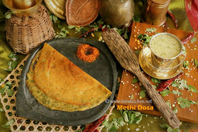 Methi Leaves Dosa