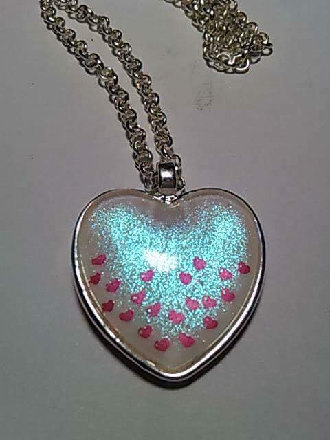 The Holo Pineapple Heart Breaker Trio necklace