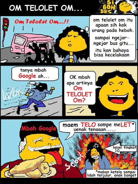 Komik Plesetan Om Telolet Om