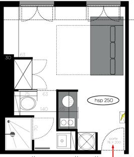 solutionappart am nagement d 39 un studio de 20m2. Black Bedroom Furniture Sets. Home Design Ideas