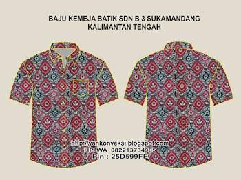 Baju Batik Pesanan SD Seruyan KALIMANTAN TENGAH