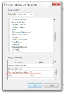 Revit: Converting a Wall Based Family into Face Based Family
