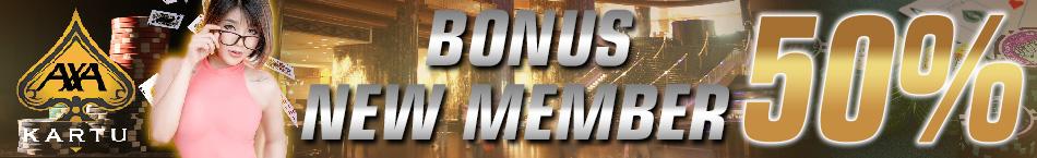 Poker Online Bonus New Member 50%