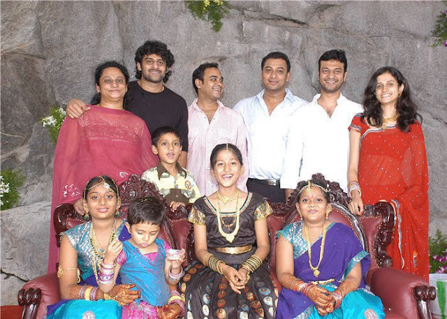 Prabhas with his sisters