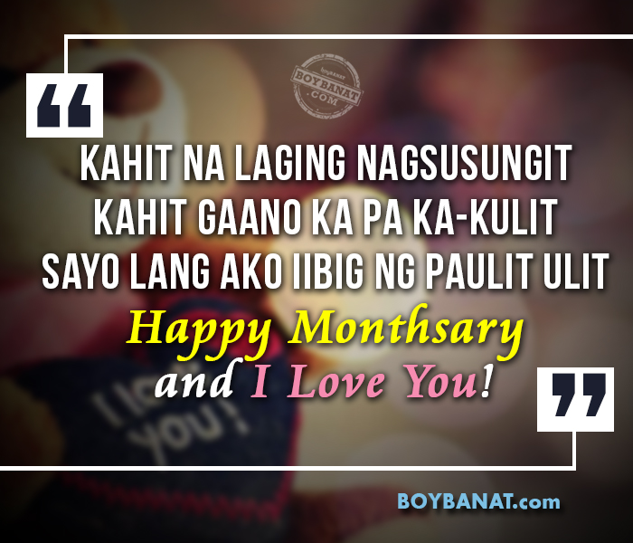 Happy Quotes Tagalog Twitter: Happy Monthsary Message Tagalog