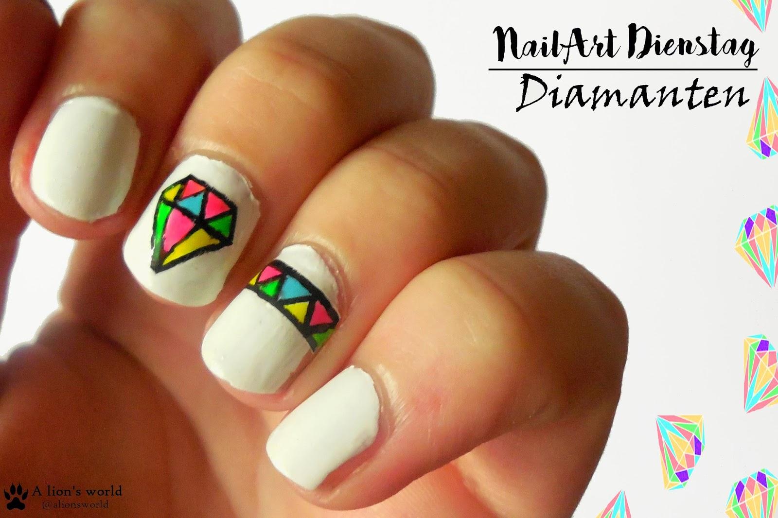 Nailart-Dienstag] Diamanten - alionsworld