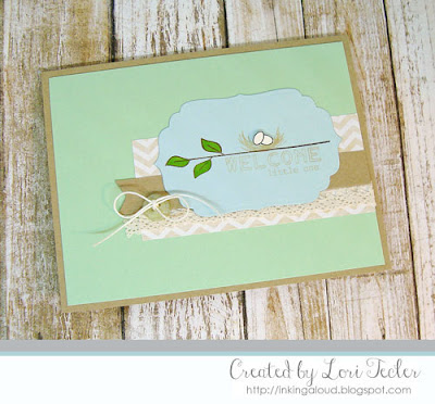 Welcome Little One card-designed by Lori Tecler/Inking Aloud-stamps from Clear and Simple Stamps
