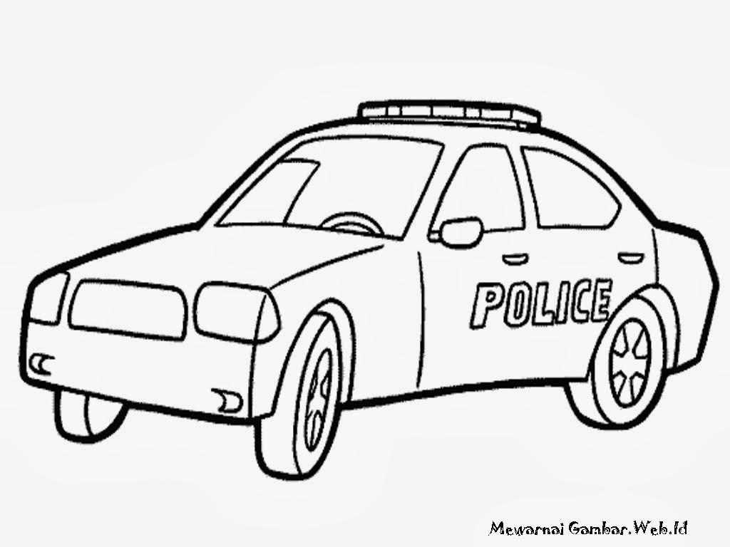 Mewarnai Gambar Mobil Polisi Mewarnai Gambar