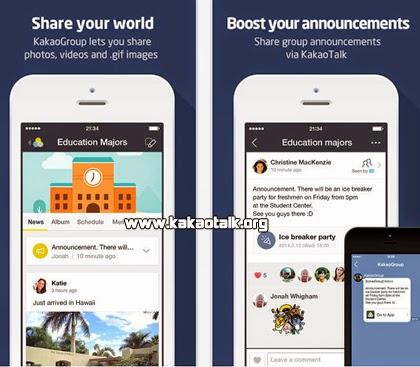 Crea chats privados con tus amigos o familia con KakaoGroup.
