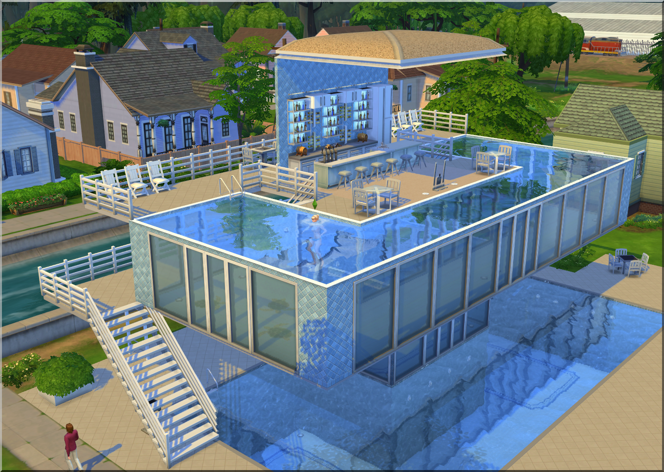 Arsepo the sims 4 n vody baz ny for Pool design sims 3