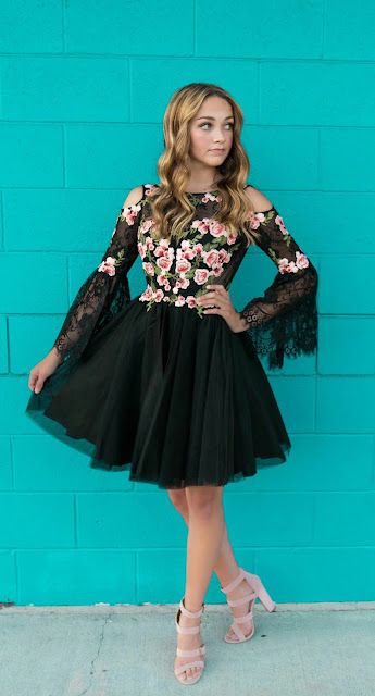 Floral-design-tulle-dress